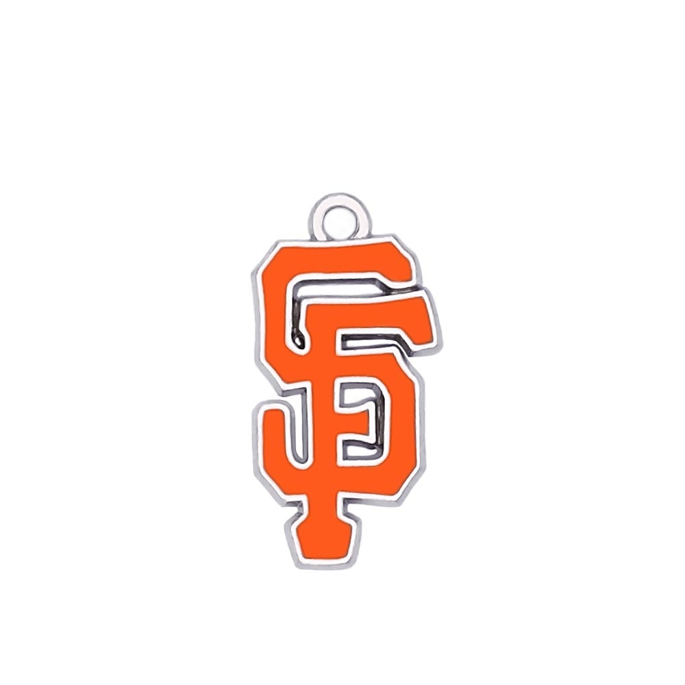 15 pieces a lot Enamel Finish Alloy Rhodium Plated Sport Team Logo San Francisco Giants Charm(China (Mainland))