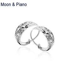 925 Sterling Silver Star Earrings Lady Fine Jewelry 2018 New Romantic Birthday Gift Women Shine Stars earrings Party