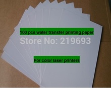 Anti UV waterproof (100 sheets/lot) A4 clear/transparent laser waterslide transfer printing paper laser water decal paper