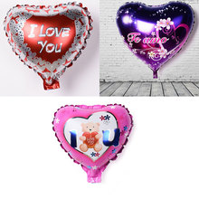 Cheap 1 pcs/lot Hot new 9 inch heart-shaped aluminum foil balloons birthday party Valentine's Day wedding props decorated globos(China)