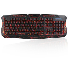 M-200 Bilingual Russian Version Backlight Colors Wired Russia Letter Gaming Keyboard Adjustable Light Brightness for PC Laptop