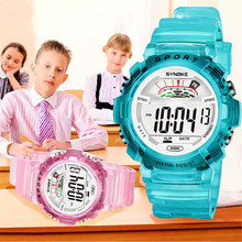 SYNOKE Students Kids Watch Boys Children Digital Sports Watches Girls Led Relojes infantil relogios wholesale Christmas gift P49(China)