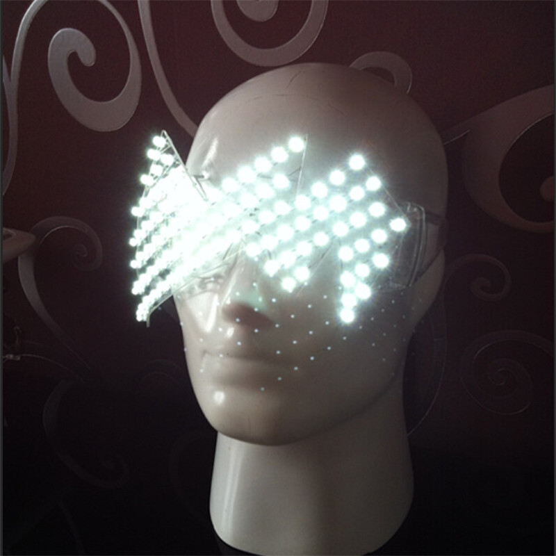 New Product Led Glasses Luminous White Lighting Halloween Glasses For Parties Event Party Supplies Free Shipping03