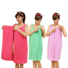145X80CM Women Soft Microfiber Magic Wearable Bath Towels Fabric Beach Towels Fleece Shower Spa Body Wrap Bath Towels Absorbent(China)