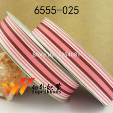 "Free shipping 1"" (25mm) sample  gift ribbons Grosgrain printed ribbon Gift packing ribbon 50 yards/roll 6555-025"