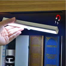 Magnetic LED Closet Light With Motion Sensor PIR Wireless Wardrobe Wall Lights Human Body Detector USB Charger Lamp For Stair