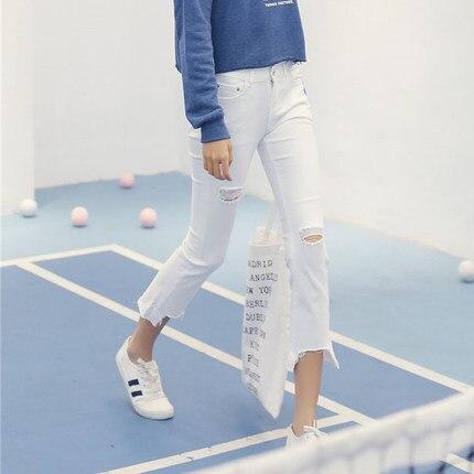 Women White Black Tassel flared Jeans Pants Female Skinny Ripped Bells Bottoms Plus Size Slim Vintage Broken Trousers Y0929-69FОдежда и ак�е��уары<br><br><br>Aliexpress