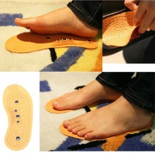 Foot Care Magnetic Foot Acupuncture Point Therapy Foot Insoles Shoe Pads Massage Comfort Shoe Cushion High Quality YF201(China)