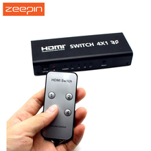 HDSW4 HDMI Switch 4X1 With Audio Toslink Coaxial Audio Output-4 Input with 1 Output Selector Switching Controller Device