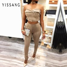 2016 lovely ladies suede Dress off the shoulder sleeveless Backless solid elegant women Autumn Winter Dresses wholesale(China)
