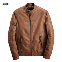 Buy New Fashion Winter Warm PU Leather Jacket Men Slim Fit Solid Mens Trend Youth Motorcycle Style Jacket Coat Male for $44.95 in AliExpress store