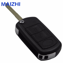 maizhi Uncut Blade For Land Rover Range Rover Discovery Sport LR3 3 Buttons Remote Key Shell Folding Flip Case Fob Blank(China)