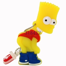 Really Capacity Flash Memory cartoon Simpson Bart USB mini pen drive 8GB 16GB 32GB USB Flash Drive USB disk Pendrive