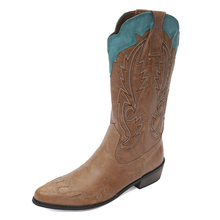 Western Cowboy Boots Sex Women Autumn ,Winter Warm Boots Ridding ,Knight Boots Shoes Chelsea Boots  ,Wedding,Peformance Shoes