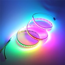 Mokungit 3.2ft 144 Pixels WS2812B Individually Addressable LED Strip Light 5050 RGB Dream Color Programmable LED Rope Light