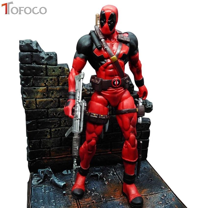 TOFOCO 18CM Super Hero X-Men Deadpool PVC Action Figure Collectible Model Toy<br>