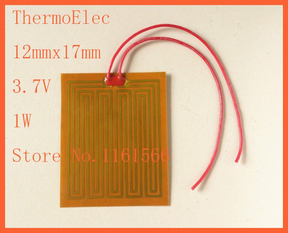 12mmx17mm 3.7V 1W ,PI film heating film polyimide heater heat rubber element heating pan electric Element For 3D Printer  plate<br><br>Aliexpress