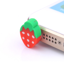 10Pcs Mobile Dust Plugs for Iphone 4 4s 5 5s 5c Fruits Dustproof Plugs Caps for Samsung Xiamo HTC Huawei Cell Phone