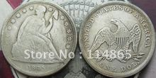 1845 Seated Liberty Silver Dollar Coin COPY FREE SHIPPING