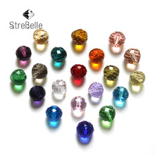 8mm Quality 100pcs/bag Pear Drop Crystal Beads Sew on Dazzling Rhinestone crafts materials Jewelry Making Beads