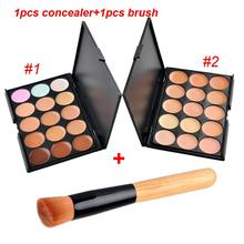 15 Color Professional Facial Concealer Palette Face Cream Care Camouflage Foundation Makeup base Palettes Cosmetic with Brush