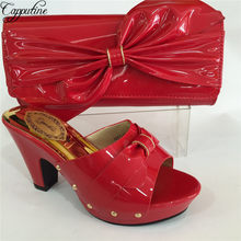 Capputine New Arrival Green Blue Shoes And Bag Sets Italian Ladies Pumps  Shoes And Bags To Match Set For Party Dress BL695C 1e3d220c0631
