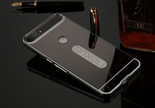 TUKE Luxury Aluminum Metal case for Huawei Nexus 6 P Hard Mirror PC Back Cover For Google Nexus 6P Hybrid phone cases(China)