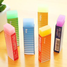 Cute Kawaii Colored Long Strip Rubber Eraser Creative Jelly Eraser For Kids Gift Korean Stationery Free Shipping 865