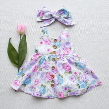 2017 New Cute Baby Girl Floral Dress Kid Party Wedding Pageant Formal Dresses Sundress Clothes New