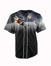 Real American Size  star wars  3D Sublimation Print Custom made Button up baseball jersey plus size