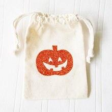 personalized Trick or Treat muslim bag Pumpkin Gift Card Holder Wraps  Halloween party Stocking Stuffer favor e9d13703d81d