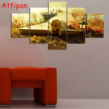 Canvas Paintings Home Decor Animal Canvas Pictures for Bedroom Modular Wall Paintings Dog Puppy Posters Wall Art Drop Shipping(China)