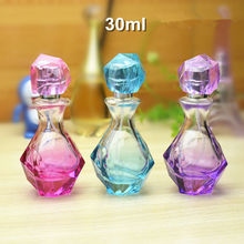 New Arrival 50pcs/lot 30ml spray bottle glass empty refillable screw colored bottles for perfume oil