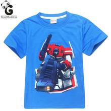 Boys T-shirts Summer Children Transformers 3D Print T Shirt For Boys Tops Tees Boy Polo Shirt Kids Cotton Girl T-shirt 10Y(China)