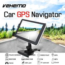 VEHEMO Car Truck 7 Inch Portable High Definition HD Screen GPS System Navigator Vedio FM MP3 With Map Support TF Card Car Stying(China)