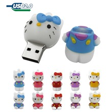 Usb Flash Drive 4GB 8GB Pendrive 16GB Pen Drive 32GB Cute Cat Pink lovely Creative U disk memory Stick flash card