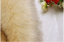 High-grade dye tip imitation fox fur,faux fur fabric,hats scarves material,sewing cloth,yellow and white available,18cm*80cm/pcs(China)