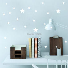 Removable Various Color Stars Decorative Wall Stickers Vinyl Wall Art Decals for Kids Rooms Home Decor(China)