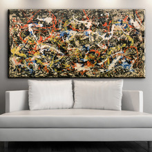xdr416 Abstract Painting By Jackson Pollock Print Canvas For Wall Art Decoration Oil Painting Wall Painting Picture No Framed