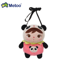 Kawaii Plush Animal Cartoon Kids Toys for Girls Children Baby Birthday Christmas Gift Angela Rabbit Girl Mini Wallet Metoo Doll