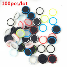 100pcs Silicone Analog Controller Thumb Stick Grip Cap Cover for Sony Playstation 4 PS4 PS3 Xbox one Xbox 360 Controller Gamepad(China)