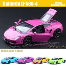 1:32 Scale Luxury Diecast Alloy Metal Super Sports Car Model For Gallardo LP560-4 Collection Licensed Model Pull Back Toys Car(China)