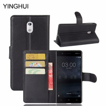 YINGHUI For Nokia 3 Phone Case Luxury Flip PU Leather Back Cover For Nokia3 / Nokia 3 Case Stand Wallet Style Holster Bag