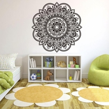 Fashion Wall Stickers Mandala Flower Indian Bedroom Living Room Wall Stickers Decal Art Mural Home Decoration Wall Poster