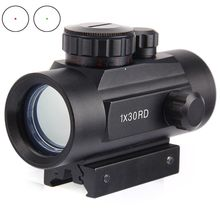 Holographic Red Dot Riflescope Tactical 30mm Lens Sight Scope Hunting Red Green Dot for Shotgun Rifle 20mm Rifle Airsoft Gun
