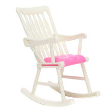 1 Pcs Mini Doll Rocking Chair Accessories For Doll House Room Dollhouse Decoration Rocker Toys Children Kid Girls Toy