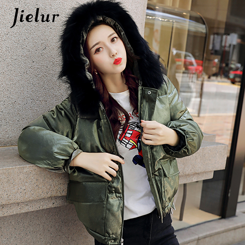 2017 Korean New Fur Collar Hooded Winter Jacket Women Solid Color Casual Short Down Jackets Womens Parka Street Fashion JacketsÎäåæäà è àêñåññóàðû<br><br>