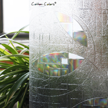 CottonColors PVC Waterproof Window Cover Films ,No-Glue 3D Static Decorative Window Privacy Glass Stickers,  Size 60 x 200cm