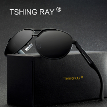 TSHING RAY Fashion Men's Polarized Pilot Sunglasses Men Vintage Brand Designer Polaroid Driving Sun Glasses For Male With Case(China)