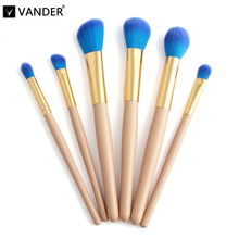 VANDER 6Pcs Professional Makeup Brushes Set Powder Foundation Eye Shadow Beauty Face Blusher Cosmetic Brush Blending Tools(China)